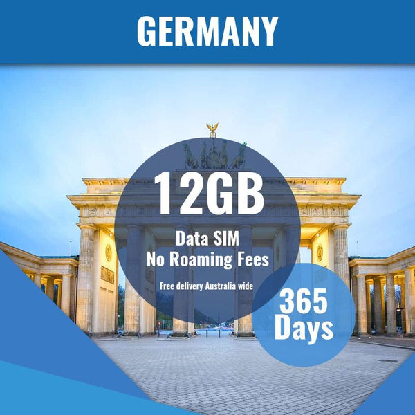 Germany Prepaid Data Only SIM Card | 365 Day | 12GB