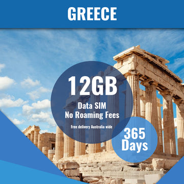 Greece Prepaid Data Only SIM Card | 365 Day | 12GB