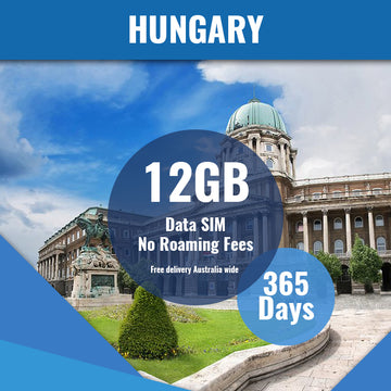 Hungary Prepaid Data Only SIM Card | 365 Day | 12GB
