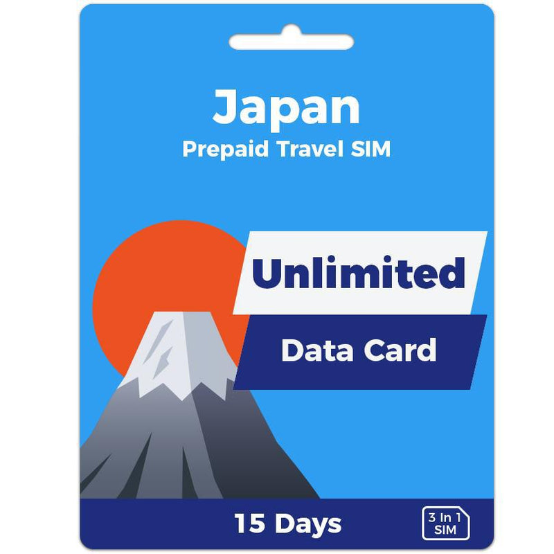 Japan Prepaid SIM Card | 15 Day | Unlimited Data-Prepaid SIMs