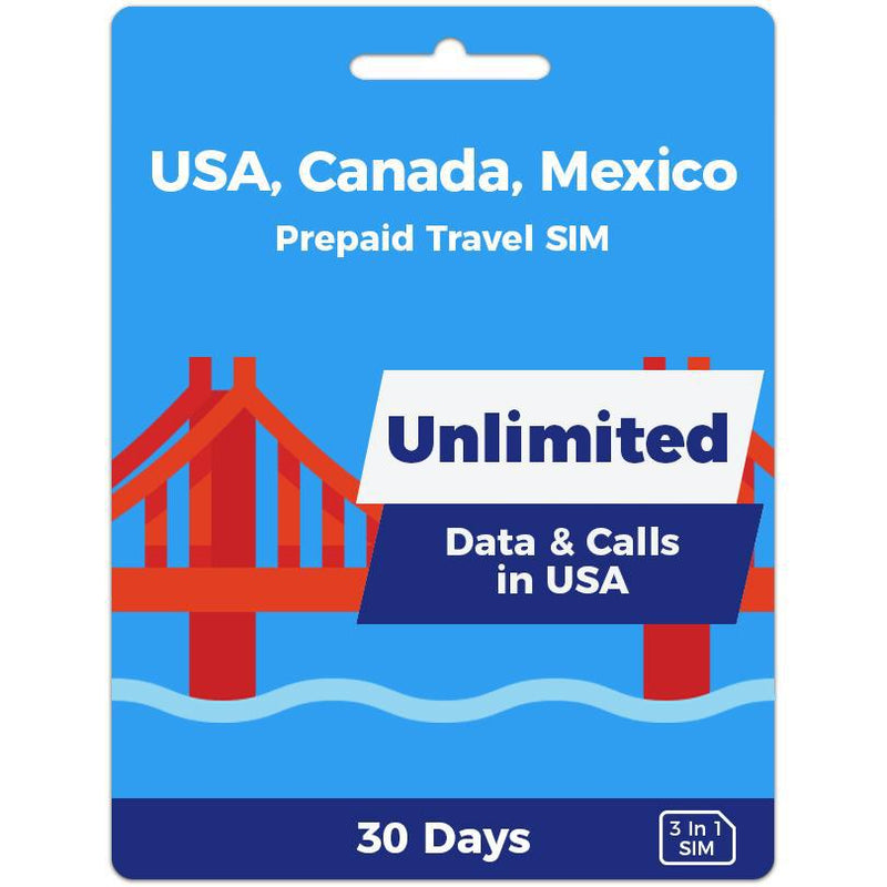 North America Prepaid SIM Card | 30 Day | Unlimited Data-Prepaid SIMs