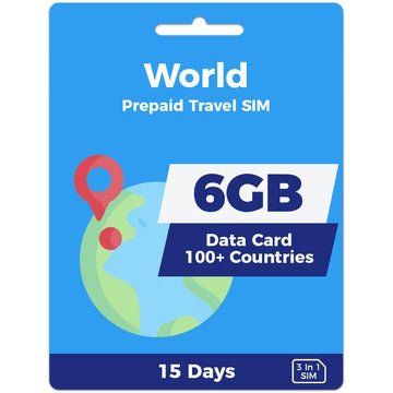 World Prepaid SIM Card | 15 Day | 6GB