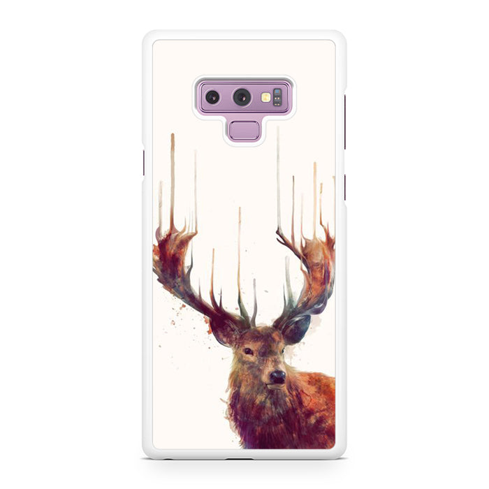 Deer Reverse Melted Paint Samsung Galaxy Note 9 Case