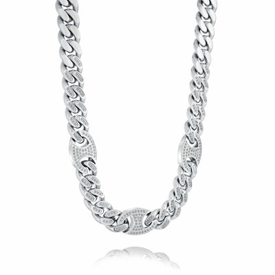 10MM GUCCI LINK CZ CHAIN