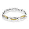 Gold Diamond Stripe Bracelet