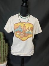 Load image into Gallery viewer, Leather & Cactus Hand Sanitizer Keychain