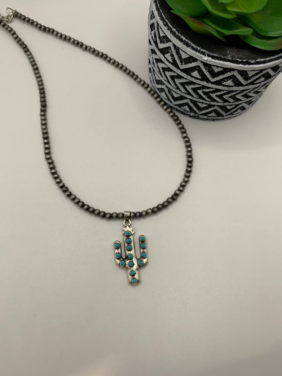 Single Cactus Necklace