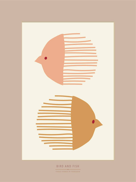BIRD AND FISH - plakat - ViSSEVASSE
