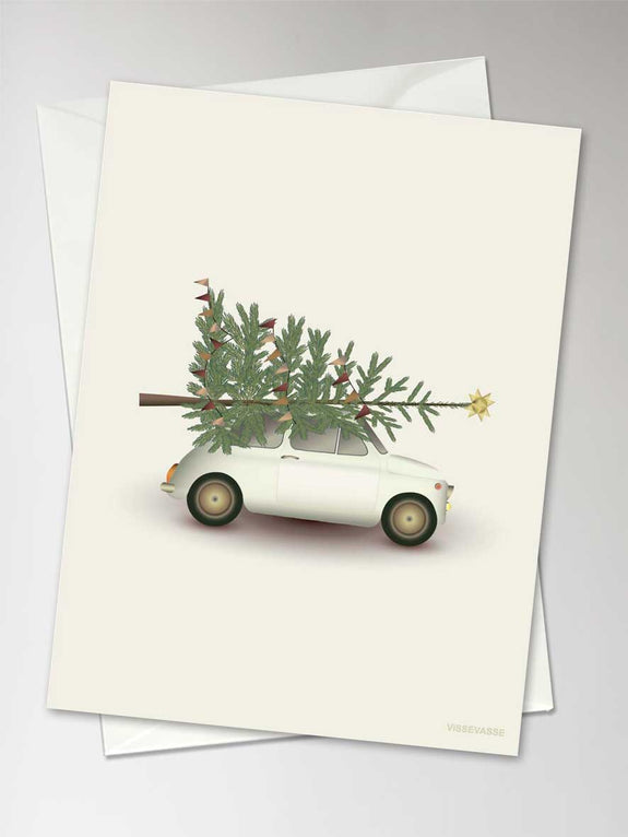 CHRISTMAS TREE & LITTLE CAR - Kort