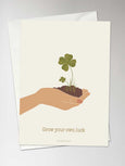 GROW YOUR OWN LUCK - kort - ViSSEVASSE