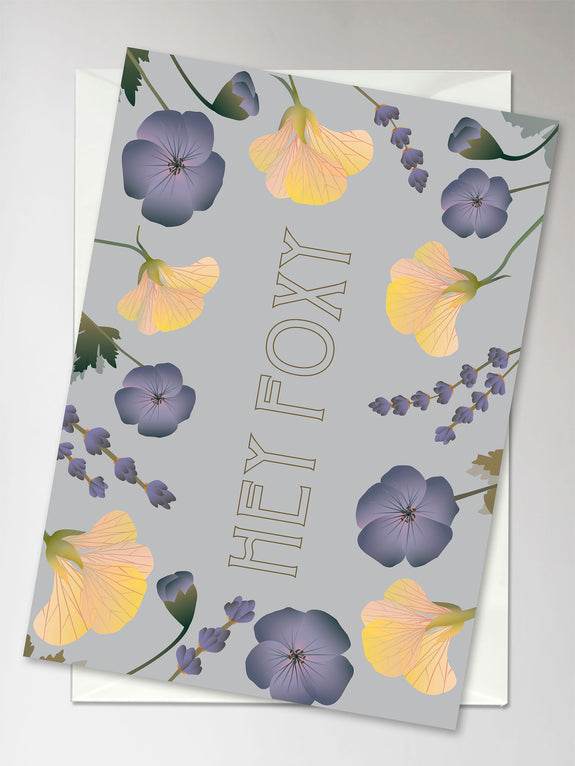 HEY FOXY flower bouquet - Kort