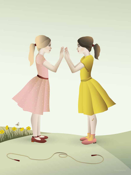 Hand-clapping girls - plakat