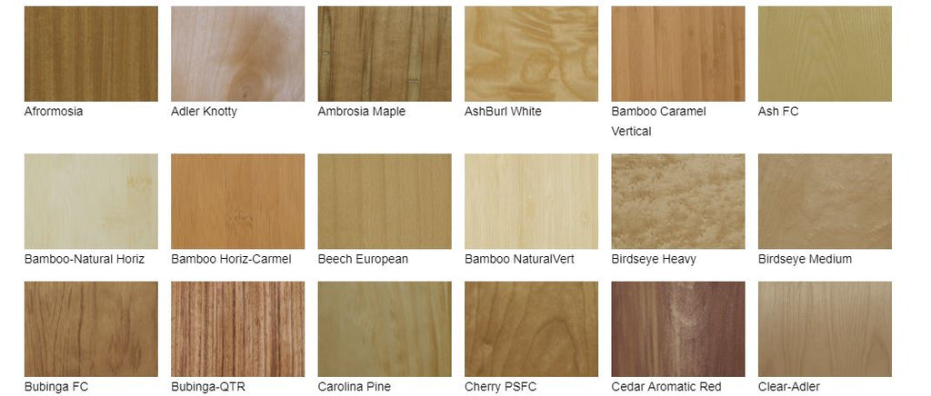 Signature line woodgrains