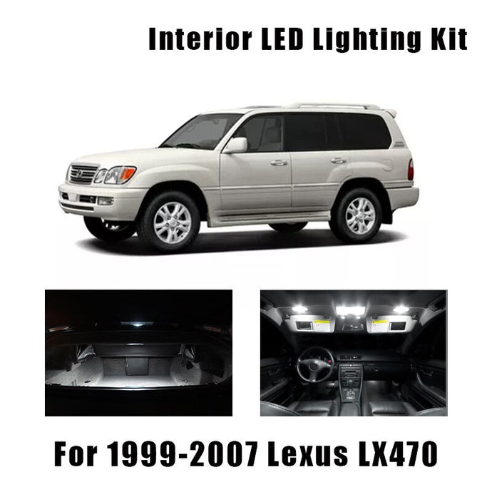 1999-2005 2006 2007 Lexus LX470 15pcs White LED Bulbs