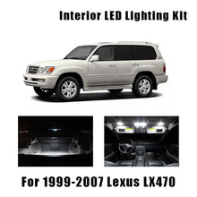 Load image into Gallery viewer, 1999-2005 2006 2007 Lexus LX470 15pcs White LED Bulbs
