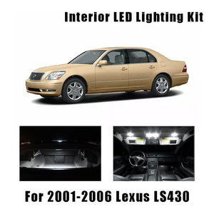 2001-2006 Lexus LS430 18pcs White LED Bulbs
