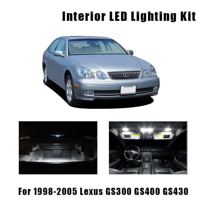 1998-2005 Lexus GS300 GS400 GS430 16pcs White LED Bulbs