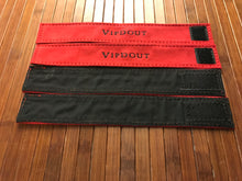 Load image into Gallery viewer, Ready to ship. Vipdout Red suede curtain ties, (sold in pair only)