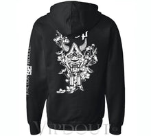 Load image into Gallery viewer, (NEW RELEASE) Junction Produce Hannya Mask Hoodie Black