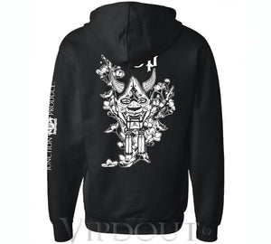(NEW RELEASE) Junction Produce Hannya Mask Hoodie Black
