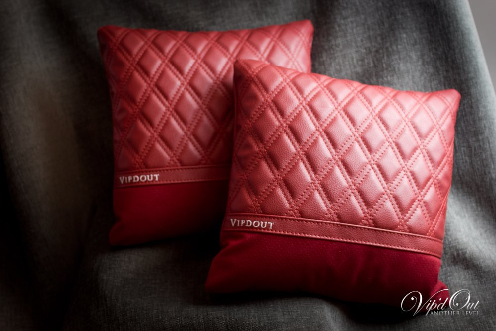 Vipdout Double Diamond Stitched Large Pillows