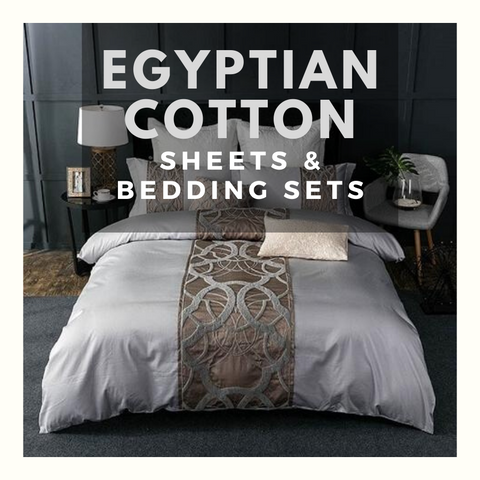 Egyptian Cotton Bedding Sets (Polyester Free)