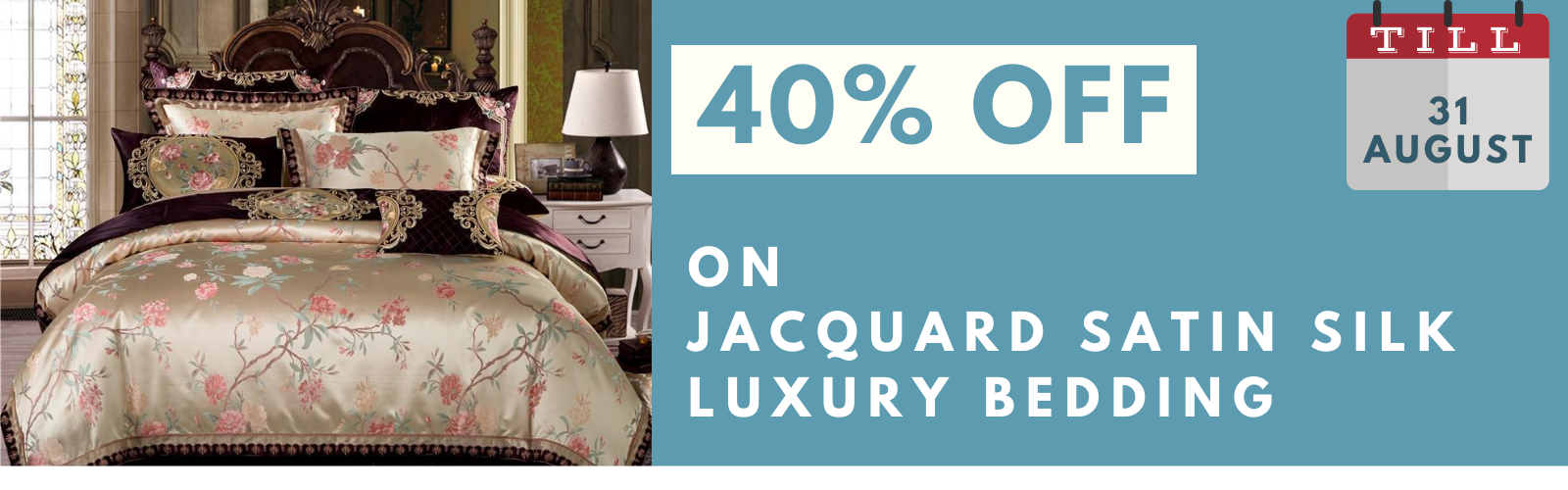 40% Off on Satin Silk Bedding Sets Collection