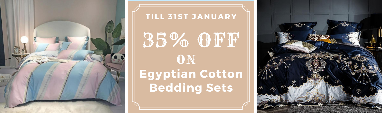NEW YEAR SALE on Egyptian Cotton Bedding Sets Collection