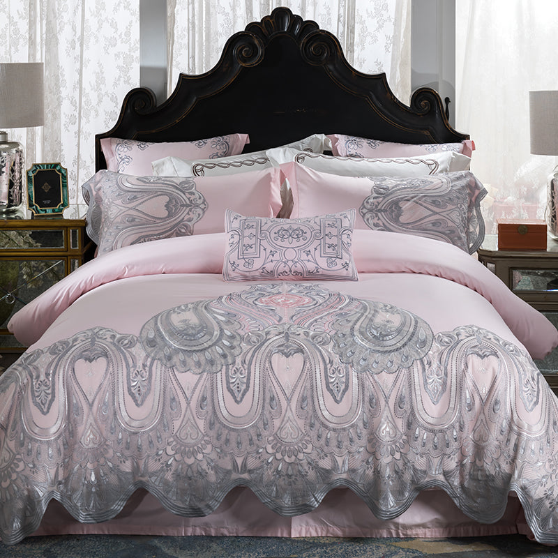 Luxury Lace Designer Bedding Set for Girls Bedroom