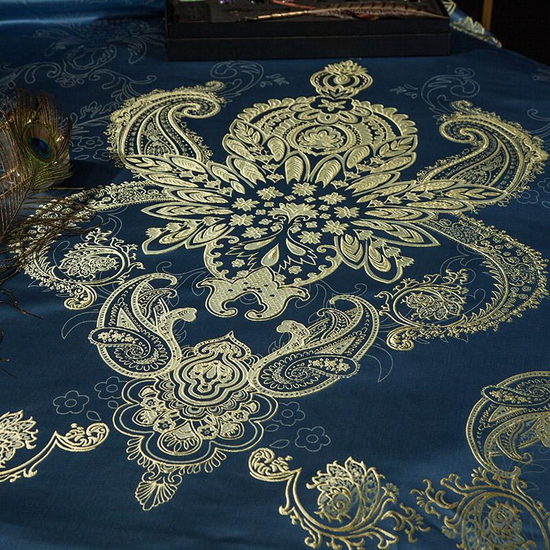 Luxury Blue Bedding with Lace on Sale