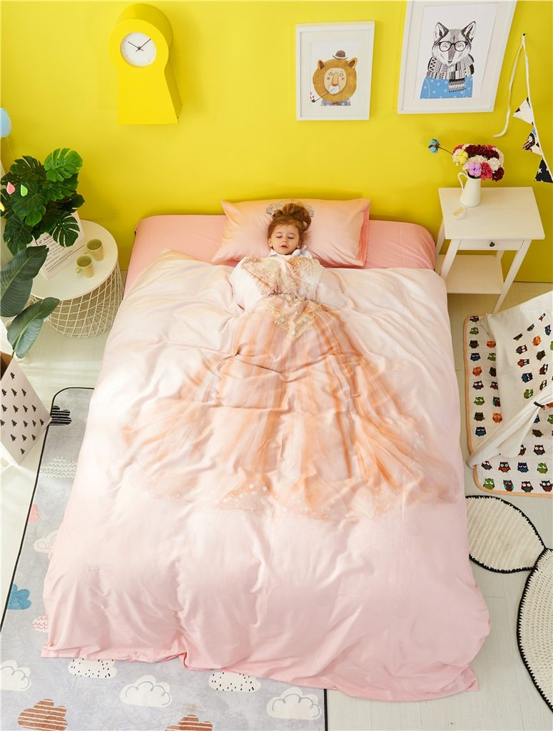 Princess Dress Bedding Set for Girls