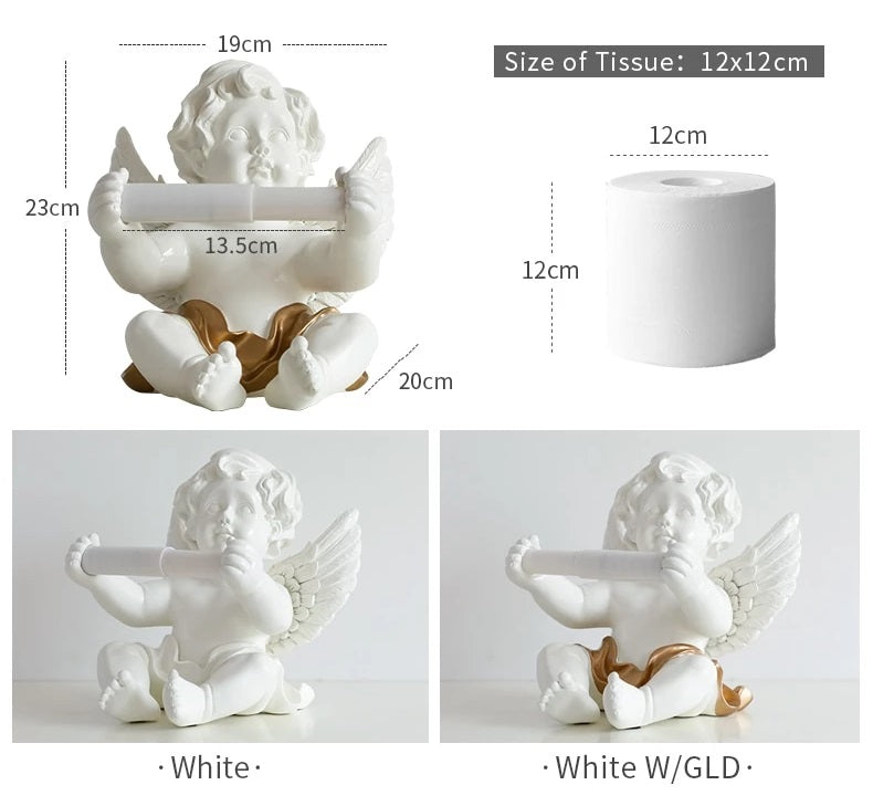 Angel Wall Mounted Tissue Paper Roll Holder