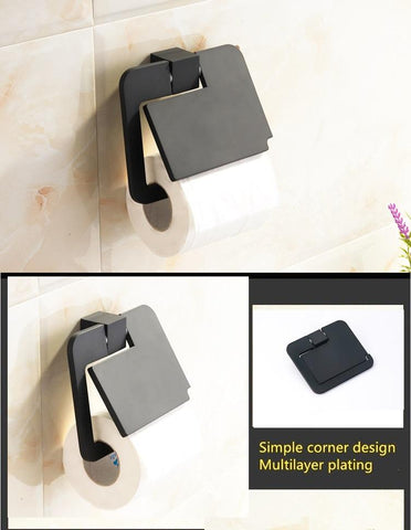 Black Toilet Paper Roll Holder