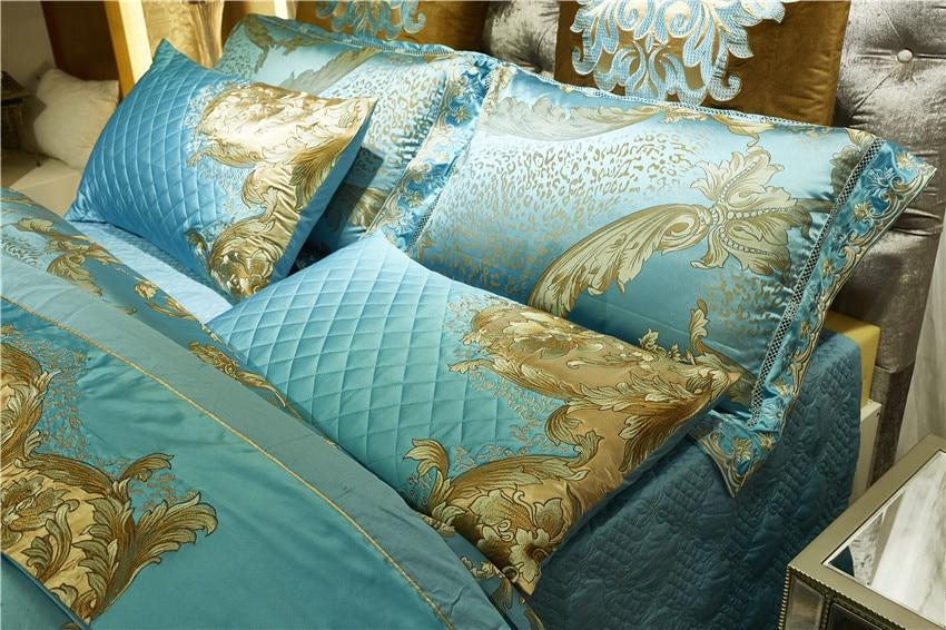 Luxury Bedding Set with Gold Detailing
