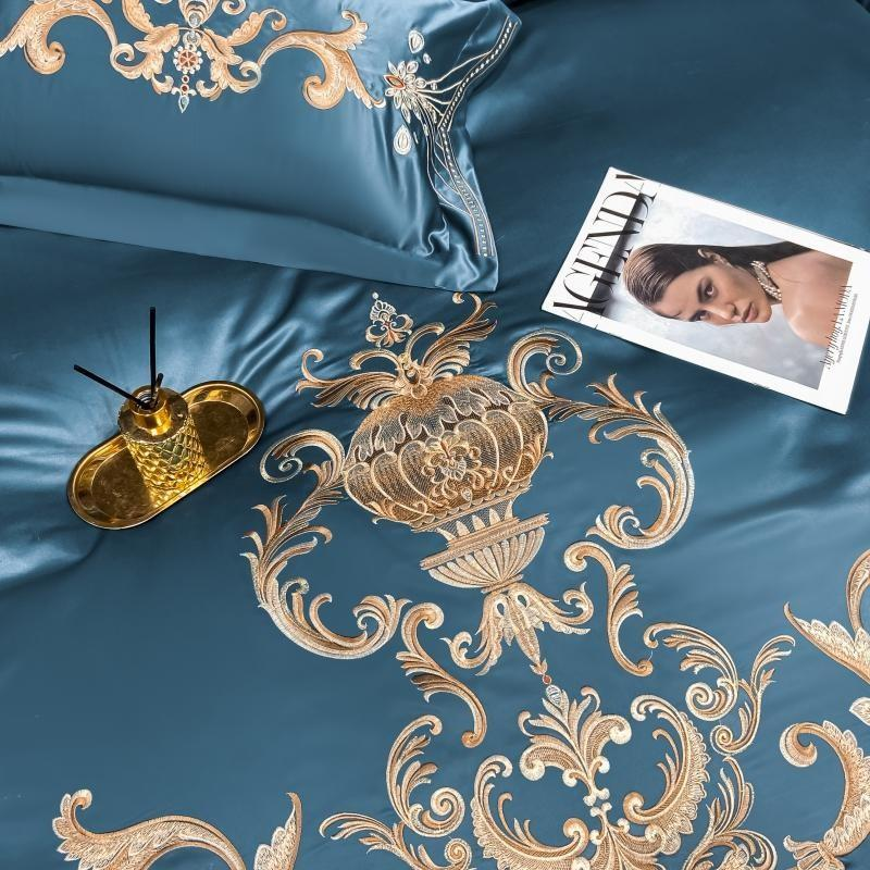 Embroidery Luxury Satin Duvet Cover