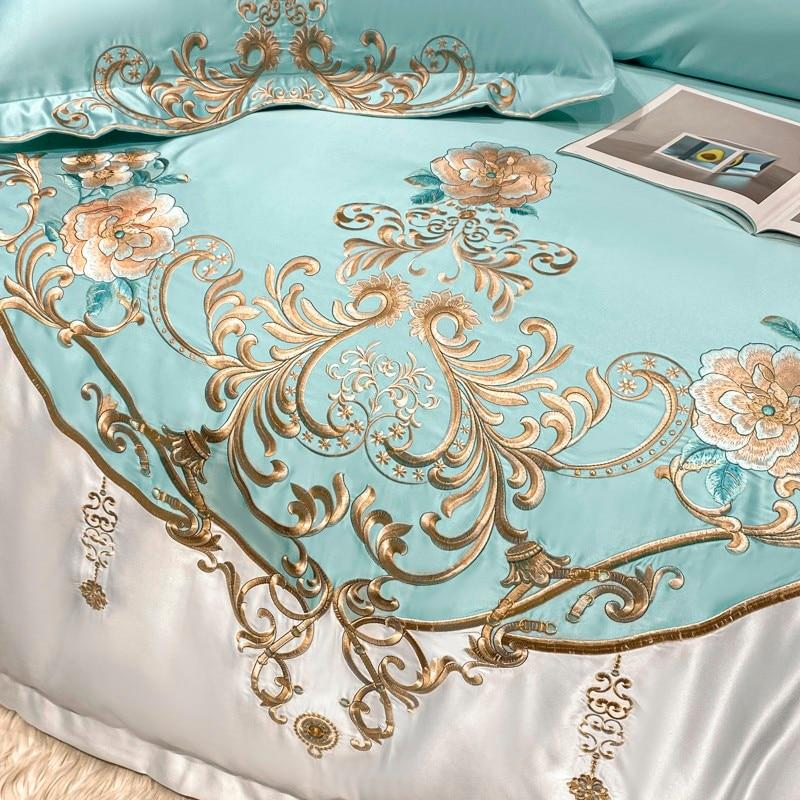 Chic Embroidery Luxury Duvet Cover Set