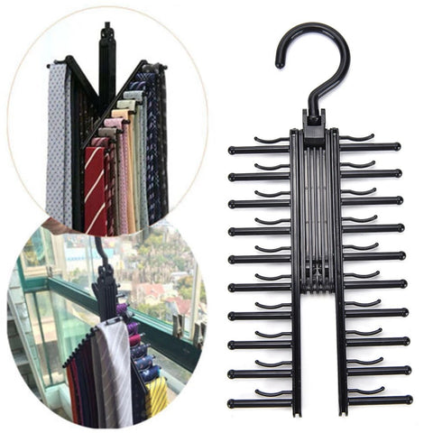 Adjustable 360° Rotating Tie/Scarf Rack