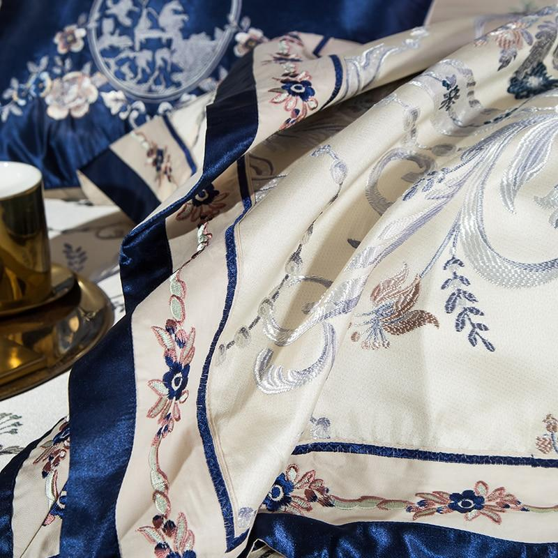 Blue Silver Luxury Bedding Set On Sale by Prominent Emporium