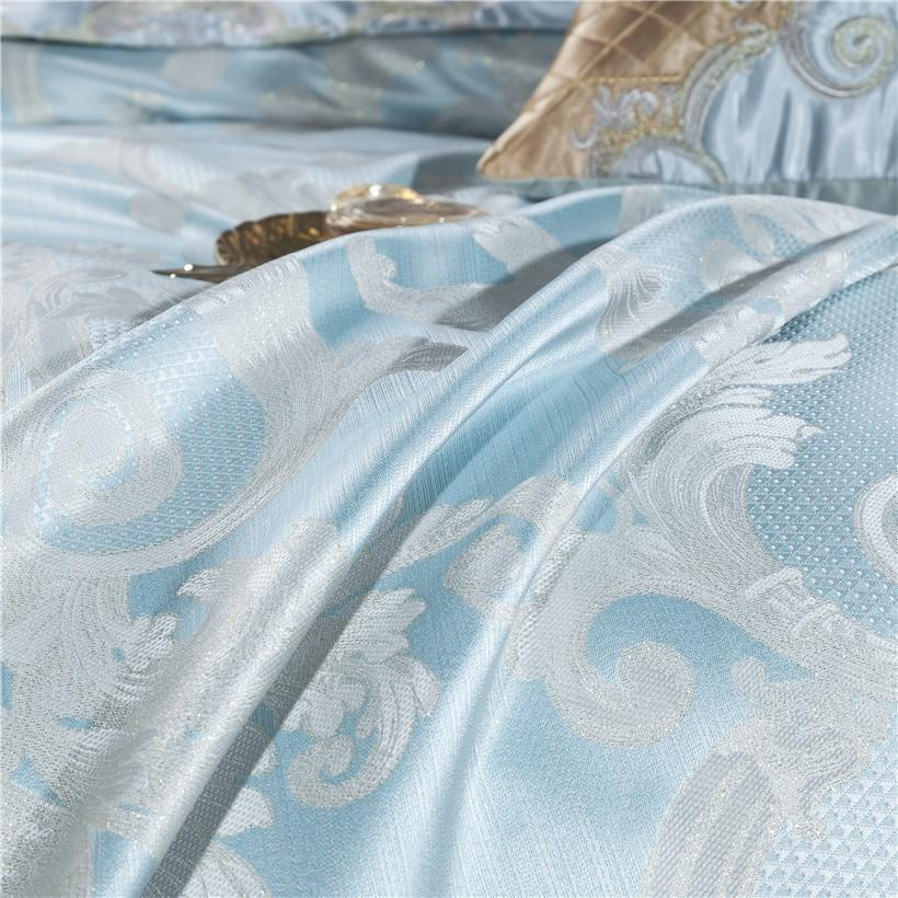 Light Blue Luxury Bedding Set On SALE