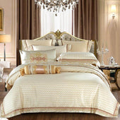 Beige Luxury Satin Silk Bedding Set