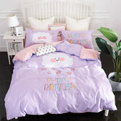 Purple Clouds 100% Cotton Kids Bedding Set