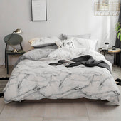 Marble Printed 100% Cotton Bedding Set