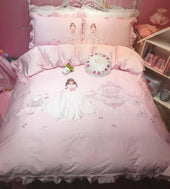 Princess Pink Egyptian Cotton Ultra Soft Bedding Set