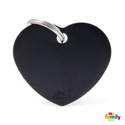 Big Heart Black Tag