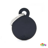 Small Black Circle Tag
