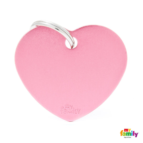 Big Heart Pink Tag
