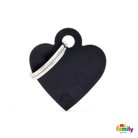 Small Black Heart Tag