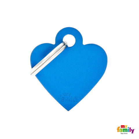 Small Blue Heart Tag
