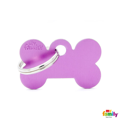 Small Bone Purple Tag