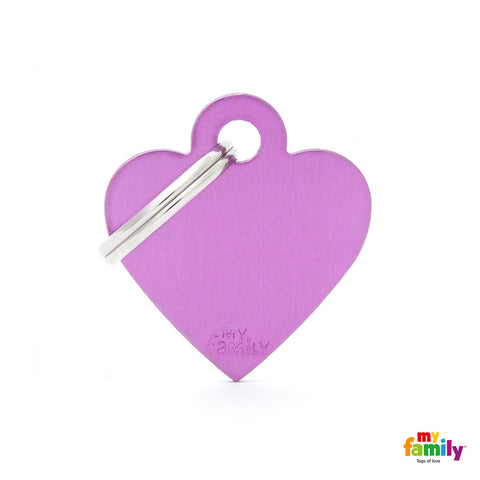 Small Purple Heart Tag